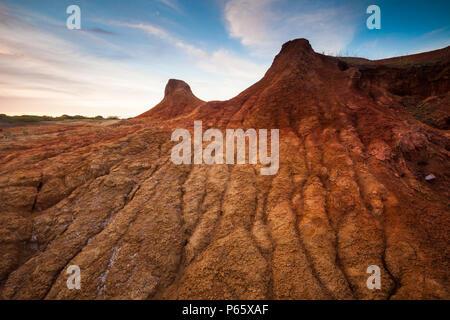 Paysage désertique érodé dans le Parc National de Sarigua, Herrera province, République du Panama.