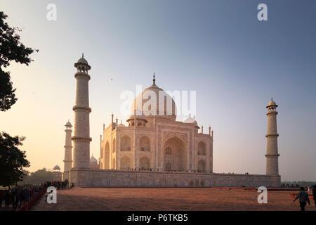 L'Inde, Uttar Pradesh, Agra, Taj Mahal (UNESCO site) Banque D'Images