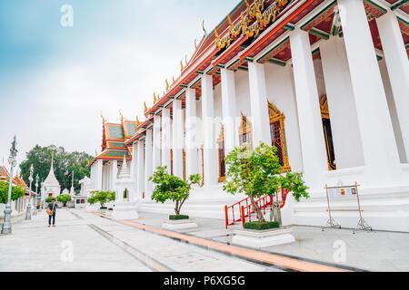 Temple Wat Ratchanatdaram à Bangkok, Thaïlande Banque D'Images