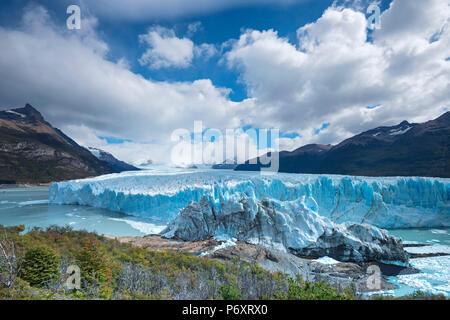L'Amérique du Sud, en Patagonie, Argentine, Santa Cruz, El Calafate, le Parc National Los Glaciares, le Perito Moreno, Banque D'Images