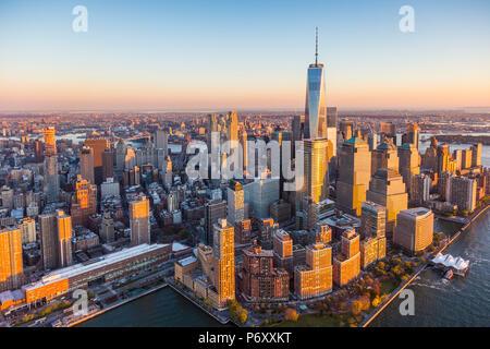 Le centre-ville de Manhattan, New York City, USA Banque D'Images