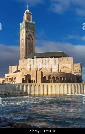 Mosquée Hassan II (1986-1993), Casablanca, Maroc Banque D'Images