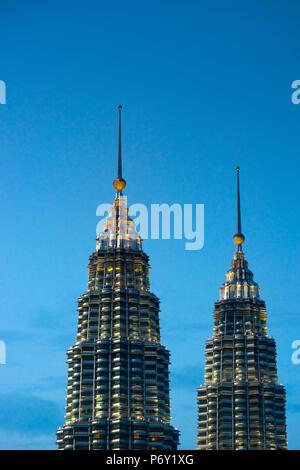 La Malaisie, Kuala Lumpur, Tours Jumelles Petronas Banque D'Images