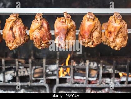 Les jambes de porc allemand / jarret de porc / Barbecue Banque D'Images