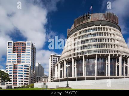 Nouvelle Zélande, île du Nord, Wellington, la ruche, l'aile de l'exécutif, le Parlement néo-zélandais Banque D'Images