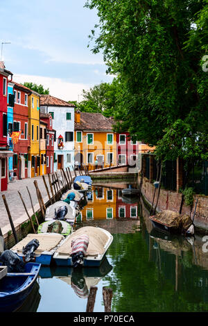 Burano Venise Italie, prises au cours du printemps.