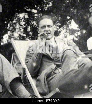 Anglais: T., photographié en 1923 par Lady Ottoline Morrell (1873-1938) . S. Eliot 52 1923 par Lady Ottoline Morrell, 1923