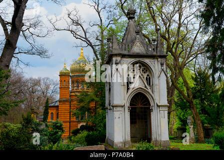 Russisch-Orthodoxe Kapelle, Historischer Friedhof, Weimar, Thuringe, Deutschland, Europa Banque D'Images