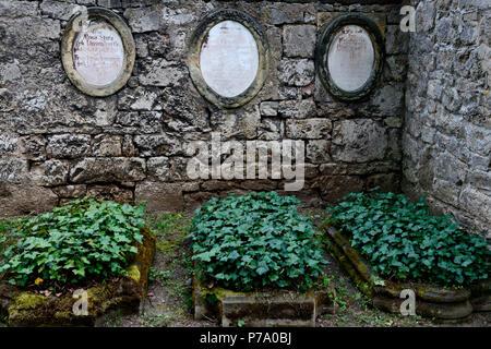 Alte Graeber, Historischer Friedhof, Weimar, Thuringe, Deutschland, Europa Banque D'Images