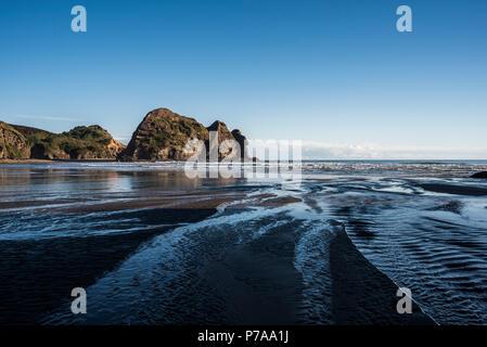 Auckland, Nouvelle-Zélande. Piha beach Banque D'Images