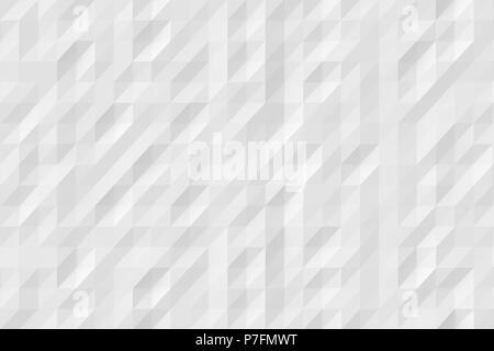 Résumé fond blanc moderne de polygones Banque D'Images