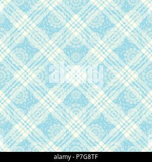 Inspiré du tartan pastel transparente motif de fond 3 vecteur Banque D'Images