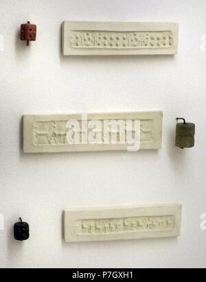 Enveloppe de la période d'Ur III avec une impression d'un cylindre joints. (22ème 21ème BC). Le Musée de l'Ermitage. Saint Petersburg. La Russie. Banque D'Images