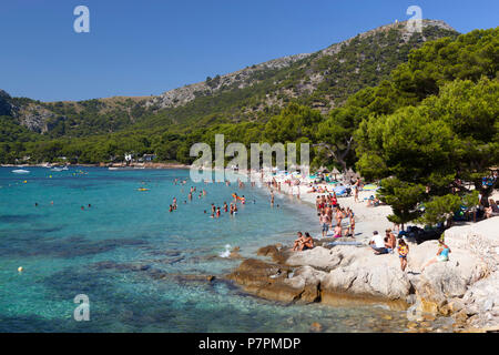 Formentor Platja (Playa de Formentor) près de Pollensa, Majorque, Iles Baléares, Espagne, Europe Banque D'Images
