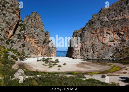 Platja de Torrent de Pareis à Majorque Banque D'Images