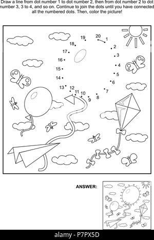 Coloriage Avion En Papier.Illustration D Une Feuille De Coloriage Avion Banque D Images