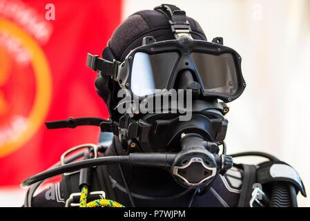 Casque de plongée de combat tactique de combinaison de plongée pour la police et l'armée des missions de plongée Banque D'Images