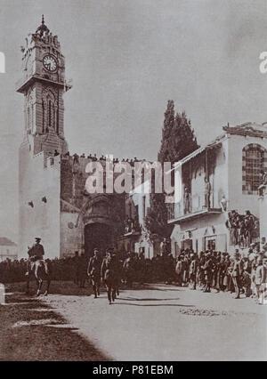 La bataille de Jérusalem s'est produite lors de l'Empire britannique's 'Jérusalem' des opérations contre l'Empire Ottoman, lors du combat pour la ville s'est développée à partir du 17 novembre, après la reddition permanente jusqu'au 30 décembre 1917, pour fixer l'objectif final de la Palestine au cours de l'Offensive du sud du Sinaï et de la Palestine Campagne de la Première Guerre mondiale. Jérusalem a été brièvement détenus par les unités de l'armée ottomane jusqu'au 9 décembre, quand la ville se rendit le jour suivant. Deux jours plus tard le général sir Edmund Allenby et de ses aides est entré à Jérusalem à pied.