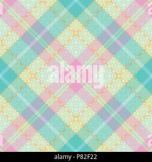 Tartan Pastel transparente motif 2 vecteur d'inspiration Banque D'Images