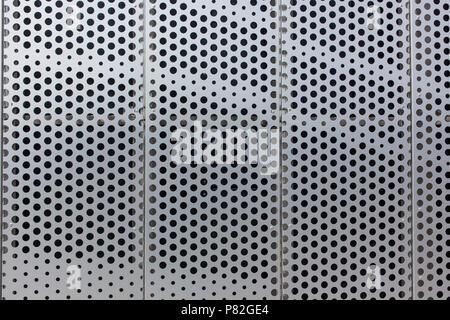 Points sur une surface métallique texture background pattern Banque D'Images
