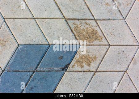 Rhombus tuiles béton texture background pattern Banque D'Images