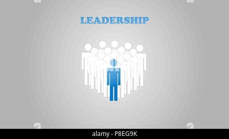 Concept de leadership avec avion rouge et blanc sur bleu ciel. artisanat et art numérique papier style. Banque D'Images