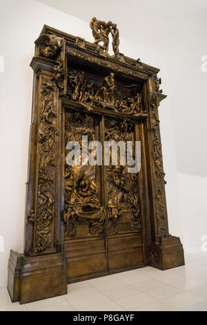 Les portes de l'enfer, Rodin Sculpture, Soumaya Museum, Mexico City Banque D'Images