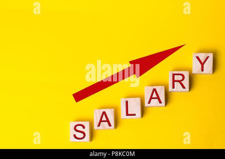 Augmentation de salaire, les taux de salaire. la promotion, l'avancement de carrière. L'amélioration du niveau de vie. Banque D'Images