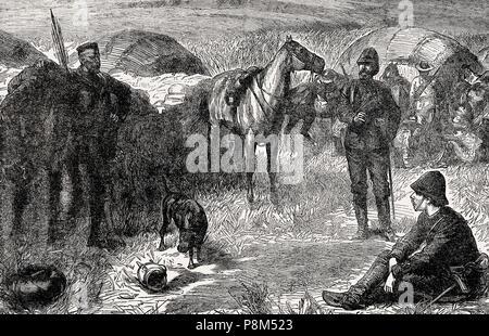 Napoléon, Prince Impérial, 1856 -1879, également connu sous le nom de Louis-Napoléon Bonaparte dans l'Anglo-Zulu War, de la bataille sur terre et mer, par James Gr Banque D'Images