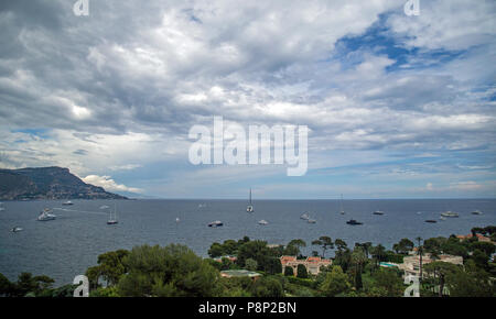 Villefranche Sur Mer, France, juin 2018, belle vue sur la baie Banque D'Images