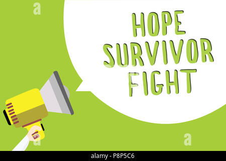 Signe texte montrant l'espoir survivant lutte. Photo stand conceptuel contre votre maladie être fighter stick à rêves message texte multiligne idée transmettre repor Banque D'Images
