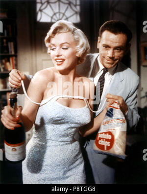 7 ans de réflexion sept ans démangent 1955 du vrai Billy Wilder Marilyn Monroe Tom Ewell. Collection Christophel © Twentieth Century Fox / Charles K Feldman Group Banque D'Images