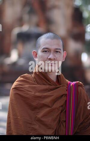 Statue de Bouddha à Ayutthaya, Thaïlande. Banque D'Images