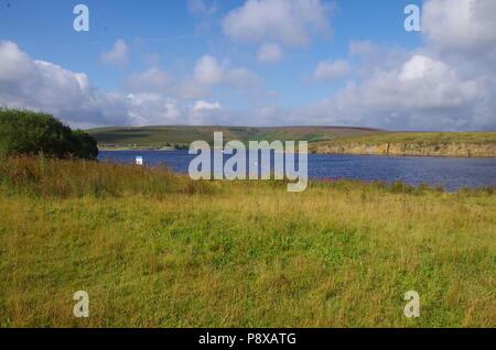 Winscar réservoir. John O' Groats (Duncansby Head) aux terres fin. Fin Fin de sentier. Dunford Pont. Le Yorkshire du Sud. L'Angleterre. UK Banque D'Images