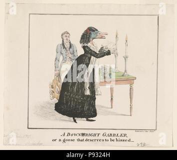 Une gabbler, ou d'une oie qui mérite d'être sifflé - publié par J(TEA) Akin Philada. Banque D'Images