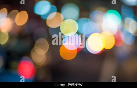Bokeh Abstract lights. Arrière-plan de fête parfaite. Banque D'Images