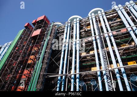 Centre Pompidou à Paris, France Banque D'Images
