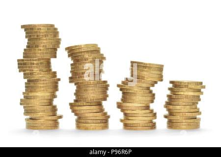 Pièces de monnaie, des concepts, des affaires, de l'architecture, colonne Banque D'Images