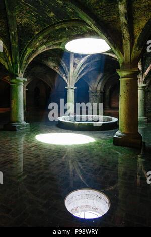 El Jadida, Maroc: chambre souterraine du site du patrimoine mondial de l'Portugais citerne construite en 1514 dans le centre historique de la ville de Mazagan. Banque D'Images