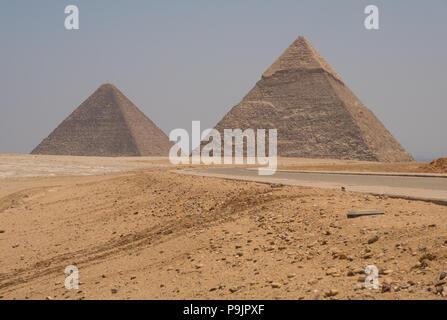 Pyramides de Gizeh, Egypte Banque D'Images