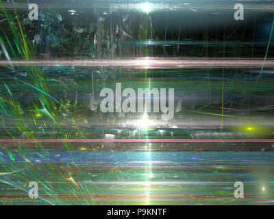 Surface avec rayures - abstract image générée numériquement Banque D'Images