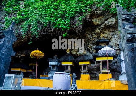 Pura Goa Lawah, Pesinggahan, Bali Klungkung, - Haikou Banque D'Images