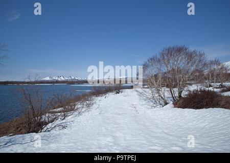 La péninsule du Kamtchatka, nature Banque D'Images
