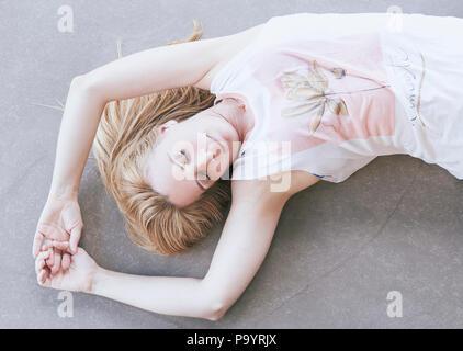 Séance de yoga relaxante Banque D'Images