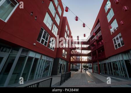 Los Angeles, 12 JUIL: apartment building in Chinatown sur JUL 12, 2018 à Los Angeles, Californie Banque D'Images
