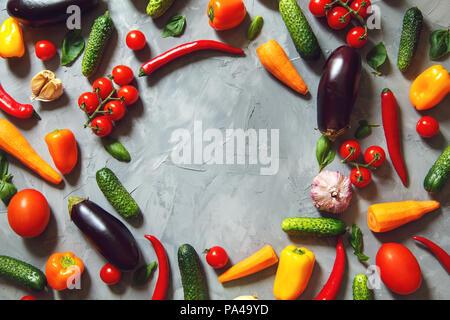 Fond de légumes différents. Le concept d'aliments sains. Copier l'espace. Banque D'Images