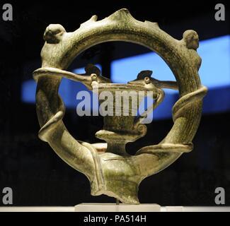 Mithra. Dieu solaire perse. Objet de culte Mithraïque, très répandu dans l'Empire romain. Banque D'Images