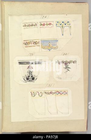 Dix modèles de tasses décorées, y compris l'Osborne. Artiste: Alfred Henry Forrester [Alfred Crowquill] (britannique, Londres 1804-1872 Londres). Fiche technique: Dimensions: 16 3/4 x 11 7/16 po. (42,5 x 29 cm). Marraine: Probablement commandé par Samuel Alcock & Company (britannique, active ca. 1828-1859). Date: 1845-55. Musée: Metropolitan Museum of Art, New York, USA. Banque D'Images