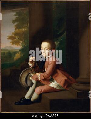Daniel Crommelin Verplanck. Artiste: John Singleton Copley (Américain, Boston, Massachusetts 1738-1815 Londres). Dimensions: 49 1/2 x 40 in. (125,7 x 101,6 cm). Date: 1771. Daniel Crommelin Verplanck (1762-1834) est né à New York et a passé le début de sa vie dans la maison familiale sur Wall Street. Il est le fils aîné de Judith et Samuel Crommelin Verplanck (39,173). Tout en assistant à Columbia College (anciennement King's College), il épouse Elizabeth Johnson, fille du président de Columbia. Ils avaient deux enfants. Après sa mort en 1789, Ann Walton mariés Verplanck, avec wh Banque D'Images