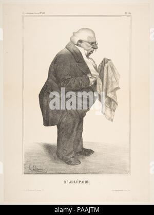 Harlé Père, publiée dans La Caricature no. 136, 5 juin 1833. Artiste: Honoré Daumier (Français, Marseille 1808-1879) Valmondois. Fiche Technique: Dimensions: 13 × 1/16 9 11/16 in. (33,2 × 24,6 cm) libre: 10 × 7/16 7 1/16 in. (26,5 × 17,9 cm). Imprimante: Becquet , Paris. Editeur: Publié par L. de Benard , Paris. Date: juin 5, 1833. Musée: Metropolitan Museum of Art, New York, USA. Banque D'Images
